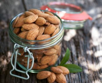A jar of almonds