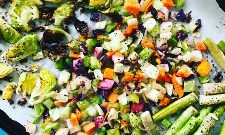 Pan of Veggies for Meal Prep