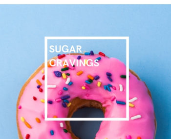 Sugar cravings: donut with sprinkles